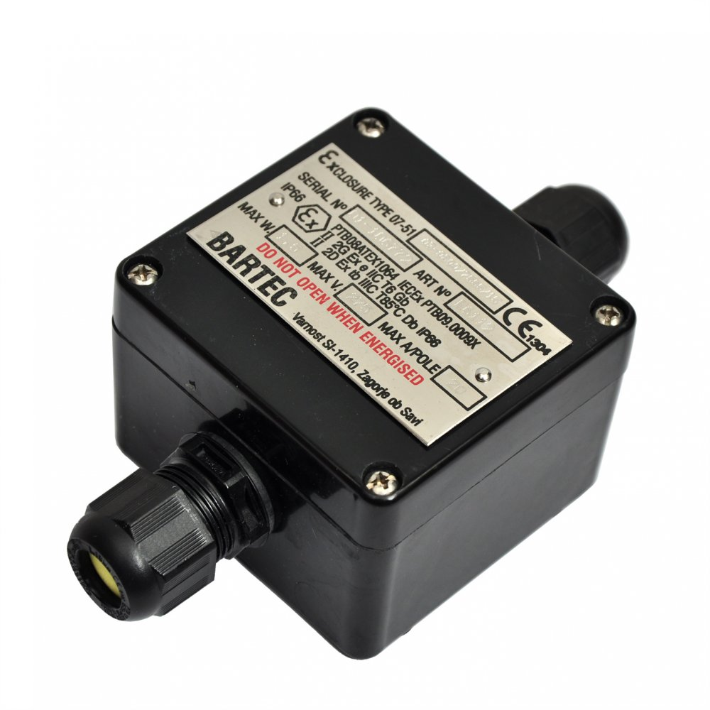 Atex Junction Box Ip66 With Cable Glands