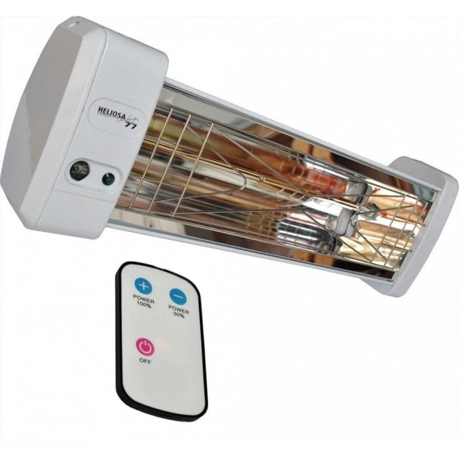 Heliosa 77 2.0kW infrared electric heater with remote