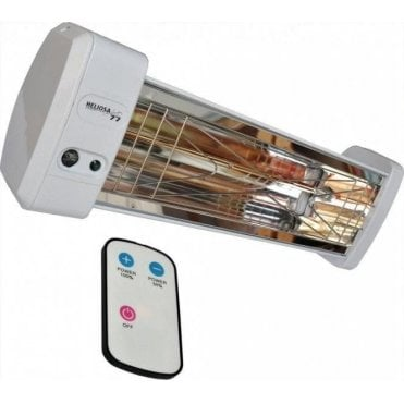 Heliosa 77 2.0kW infrared heater + remote - weatherproof