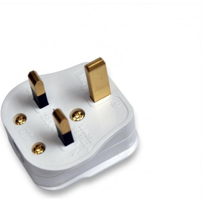 Knightsbridge 3 Pin UK Mains Plug - pack of 3