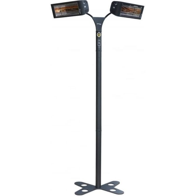 Star Progetti Heliosa 993 3kW weathersafe twin radiant heater and stand