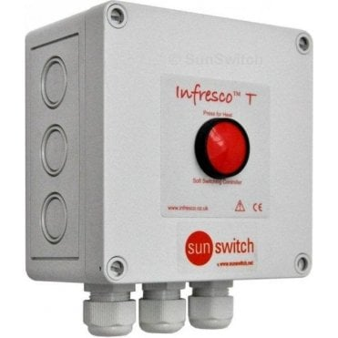 Infresco T 6kW push-button timer & soft-start